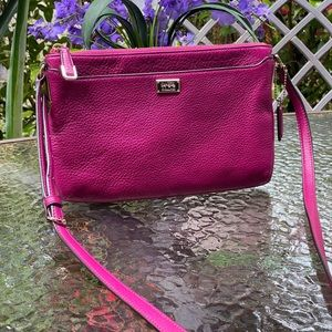 Coach Hot Pink Leather Crossbody